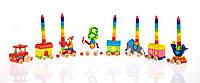 Подставка для свечей Goki Паровоз-Цирк 60919, аксессуары для детского праздника