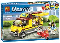 """Конструктор Bela 10648 Urban (аналог Lego City 60150) """"Фургон-пиццерия"""", 261 дет"""