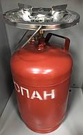 """Горелка газовая туристическая  """"Кемпинг"""" с баллоном 12 литров."""