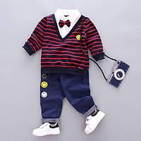 Костюм детский  для мальчика пиджак и штаны на резинке