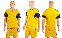 Футбольная форма Progress CO-3437-Y(M) (полиэстер, р-р M-46-48, желтый, шорты желтые), фото 1
