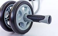 Колесо для пресса двойное (ролик для пресса) с эспандером PS  (d-14см,мет,пласт,l эсп-100см)