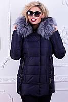 Зимняя куртка с мехом чернобурки Peercat 025