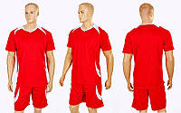 Футбольная форма подростковая Perfect CO-2016B-R(30) (PL, р-р (30)-150см, красный-белый), фото 1
