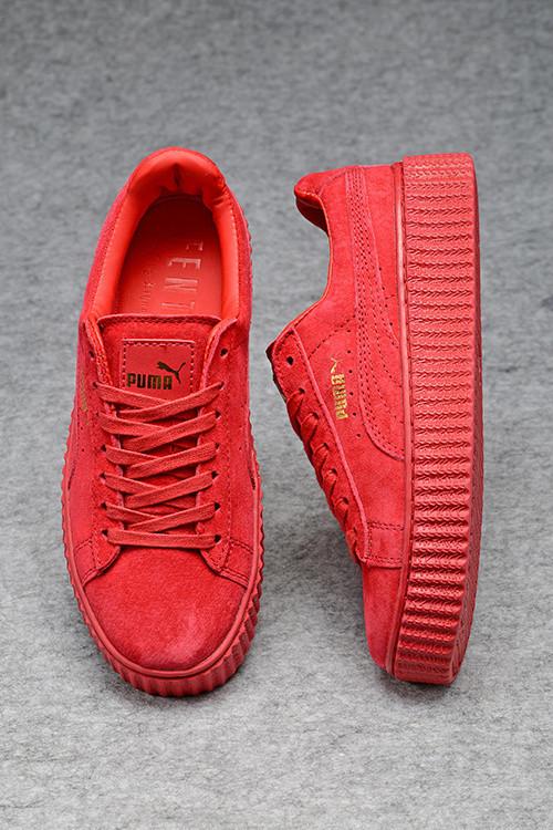 Кроссовки Puma x Rihanna Suede Creepers пума рианна женские реплика -  Интернет-магазин кроссовок