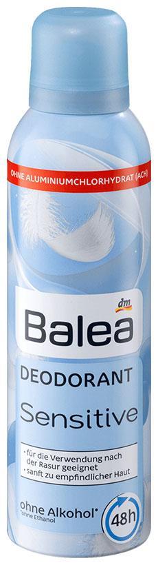 Деоспрей Balea Sensitive алое вера 200мл