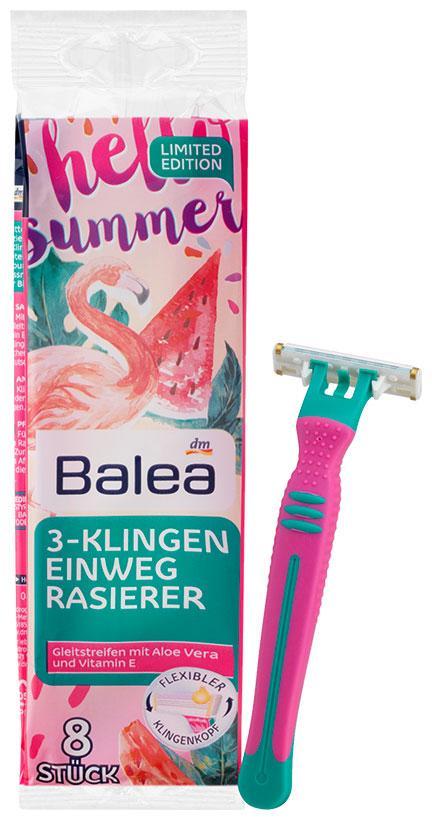 Станки одноразовые для депиляции 3 лезвия Balea 8шт