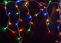 "Светодиодная Гирлянда ""Бахрома"" 120 LED мультиколор,  3x0.6 м белый провод"