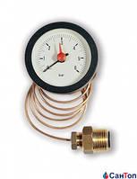 "Манометр WATTS MC 50/6 1/2"" НР (52 мм, 0-6 бар) с капиллярной трубкой 1000 мм для котла"