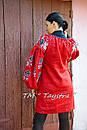 Вышитая туника красное платье лен, вышиванка бохо стиль , Bohemian, этно, туника в Бохо-стиле , фото 2