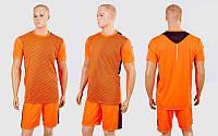 Футбольная форма Variation CO-1011-OR(XL) (PL, р-р XL-48, рост 175см, корал-черн, шорты коралловые), фото 1