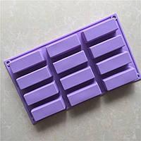 Форма для десертов Бруски Прямоугольник 12 шт, фото 1