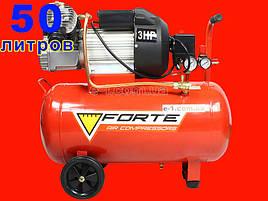 2-х цилиндровый масляный компрессор на 50 литров Forte VFL-50