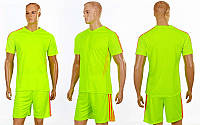 Футбольная форма подростковая Glow CO-703B-LG (PL, р-р (24-30), салат-оранж, шорты салатовые))