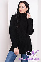 "Черный женский свитер ""RENATA 4110"" (р. УН. S-М-L) арт. 20174"