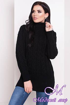 "Черный женский свитер ""RENATA 4110"" (р. УН. S-М-L) арт. 20174, фото 2"