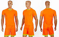 Футбольная форма для команд подростковая Grapple CO-7055B-OR (PL,  оранж-салат, шорты оранж)