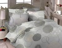 Комплект постельного белья  Серые круги. Двуспальный. Сатин