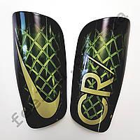 Щитки футбольные Nike CR7 взрослые (черно-зеленые)