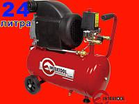 Масляный компрессор на 24 литра 1,5 кВт, 2 HP Intertool PT-0010
