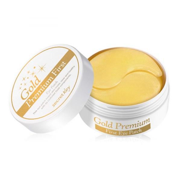 Гидрогелевые премиум-патчи для глаз с 24-каратным золотом Secret Key Gold Premium First Eye Patch