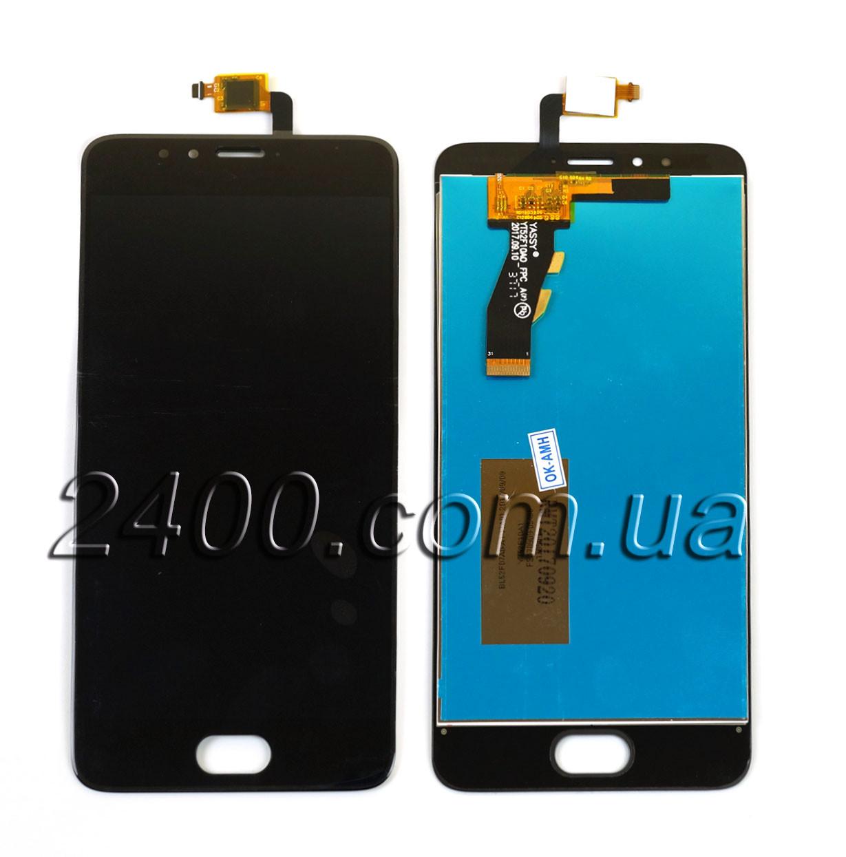 Тачскрін + дисплей для Meizu M5S (дисплейний модуль) - екран для Meizu M5S (модуль Мейзу M5 S) чорний