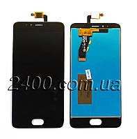 Дисплей на мейзу м5с модуль Meizu M5s черный (сенсор+дисплей)
