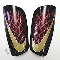 Щитки футбольные Nike взрослые (черно-красные)