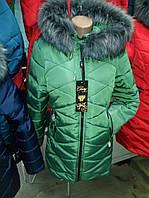 Пуховик зимний женский(44-52) с капюшоном, доставка по Украине