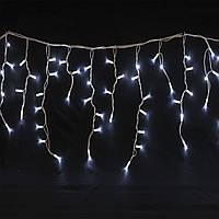 "Светодиодная Гирлянда ""Бахрома"" 120 LED белый,  3x0.6 м белый провод"