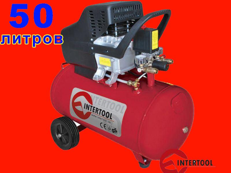 Масляный компрессор на 50 литров Intertool PT-0003