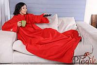 Плед с рукавами из флиса, 140х180 красный