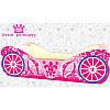 Кровать Карета розовая для девочки