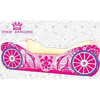 Кровать Карета розовая для девочки, фото 1
