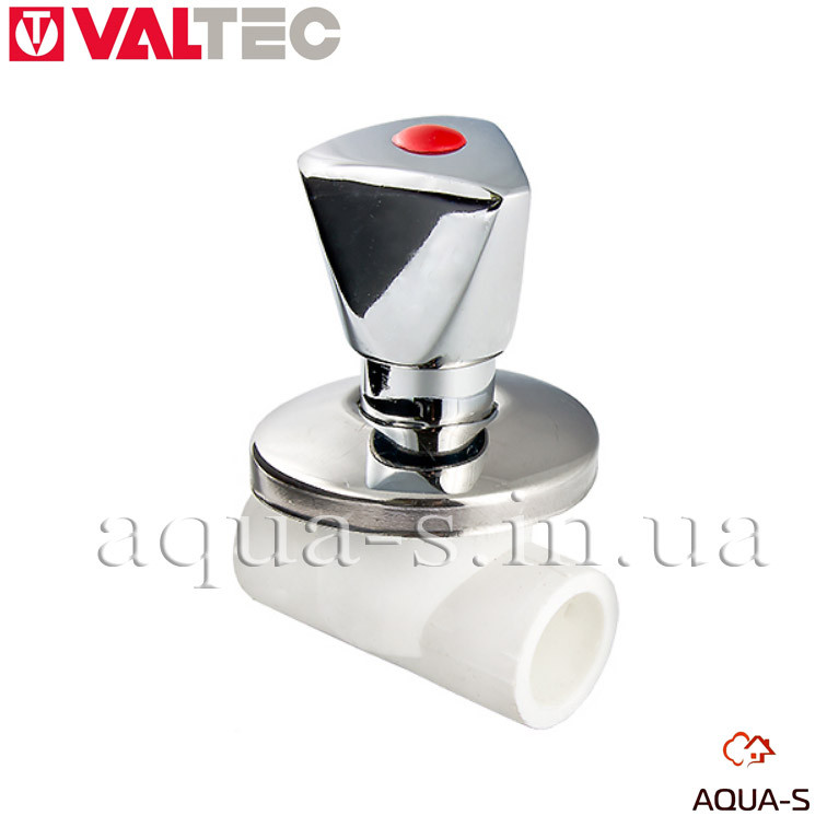 Вентиль под штукатурку Valtec PPR DN 25 полипропилен (ХРОМ) VTp.713