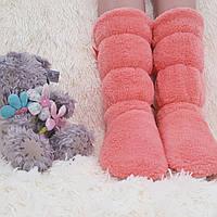 Сапожки для дома махровые 37-38 коралловые