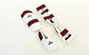Защита голени с футами для единоборств PU DAE BO-5074-W, фото 2