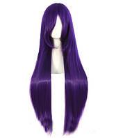 Парик женский ровный аниме 100см фиолетовый длинный