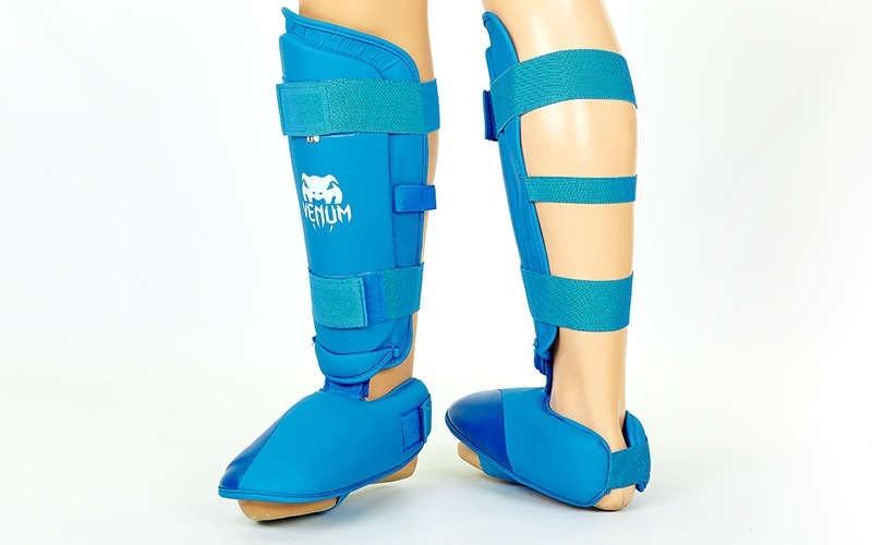 Захист гомілки з футами для єдиноборств PU VENUM MA-5857-B