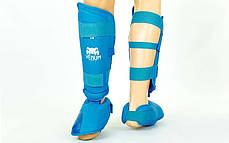 Захист гомілки з футами для єдиноборств PU VENUM MA-5857-B, фото 2