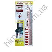 Зубная паста Lacalut White & Repair 75 мл + Ополаскиватель для рта Lacalut 100 мл