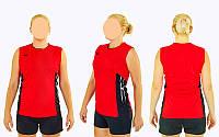Форма волейбольная женская 6503W-R(2XL) (полиэстер, р-р 2XL-165-170см(58-63кг), красный), фото 1