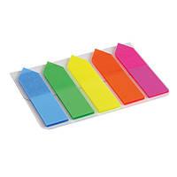 Закладки пластиковые Axent 2440-02-A, неонового цвета, стрелки, 5х12х50 мм, 125 штук