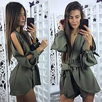 Женский модный комбинезон с поясом (3 цвета), фото 1