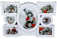 Фоторамка-коллаж пластиковая FAMILY на 7 фотографии разных цветов 10х15,10х10,20х25