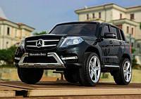 Детский электромобиль ЛИЦЕНЗИОННЫЙ Джип Mercedez Benz GLK 350 Черный,мягкие колеса и автопокраска