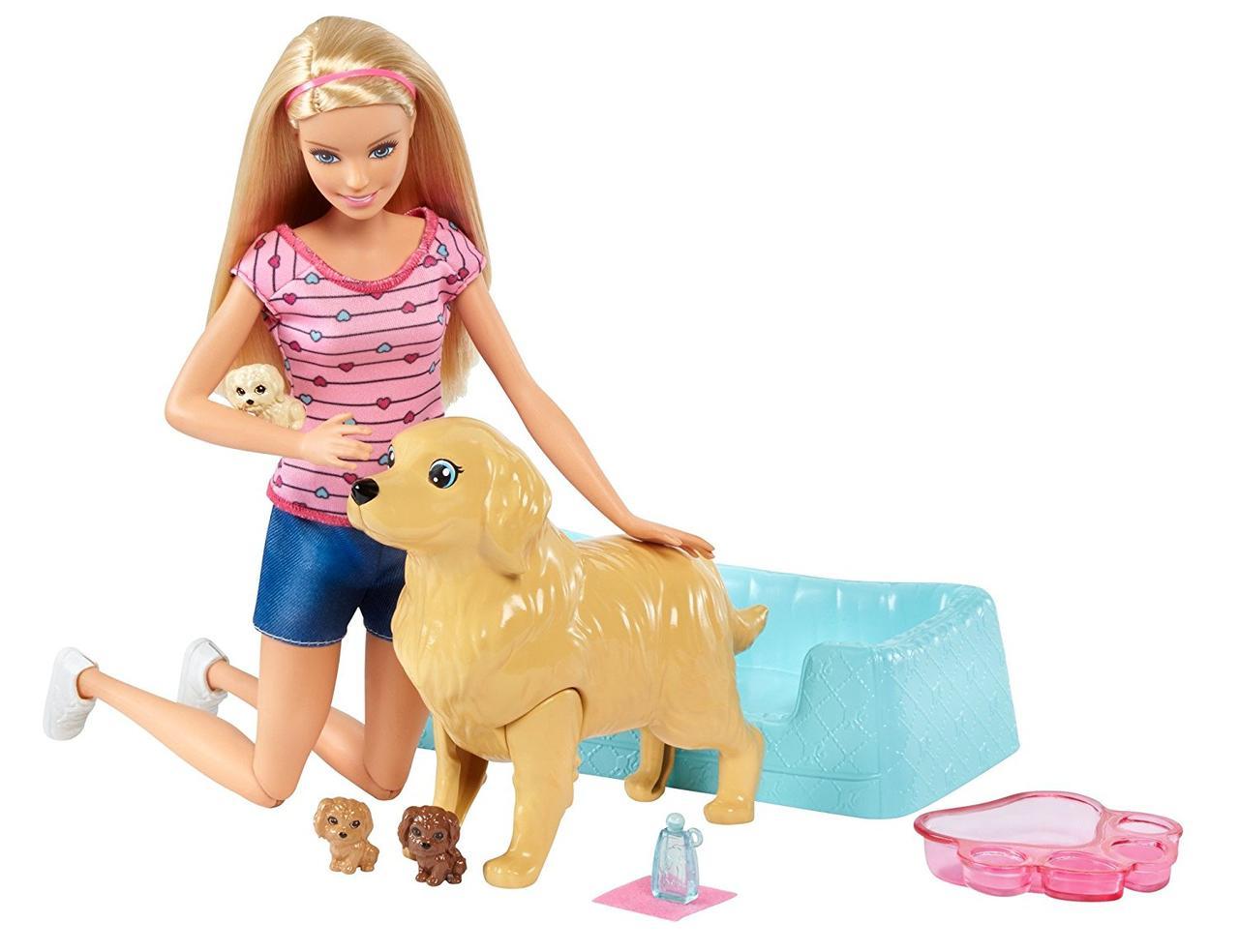 Набор с куклой Barbie  Новорожденные щенки