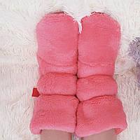 Сапожки для дома махровые 35-36 розовые 3