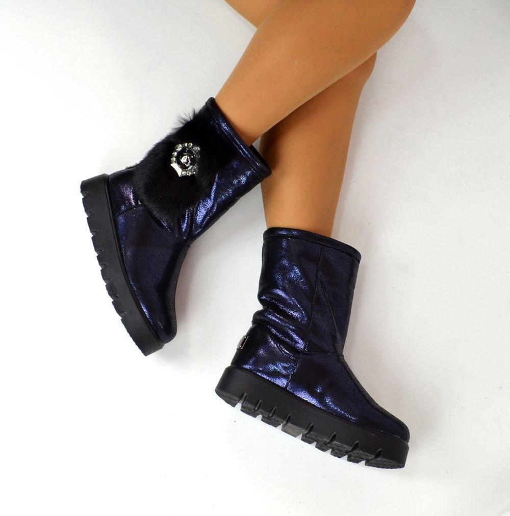 6cdcc25446c1 Женские угги Chanel синие с лазерным напылением Турция - ГЛЯНЕЦ   Интернет- магазин КОЖАНОЙ обуви