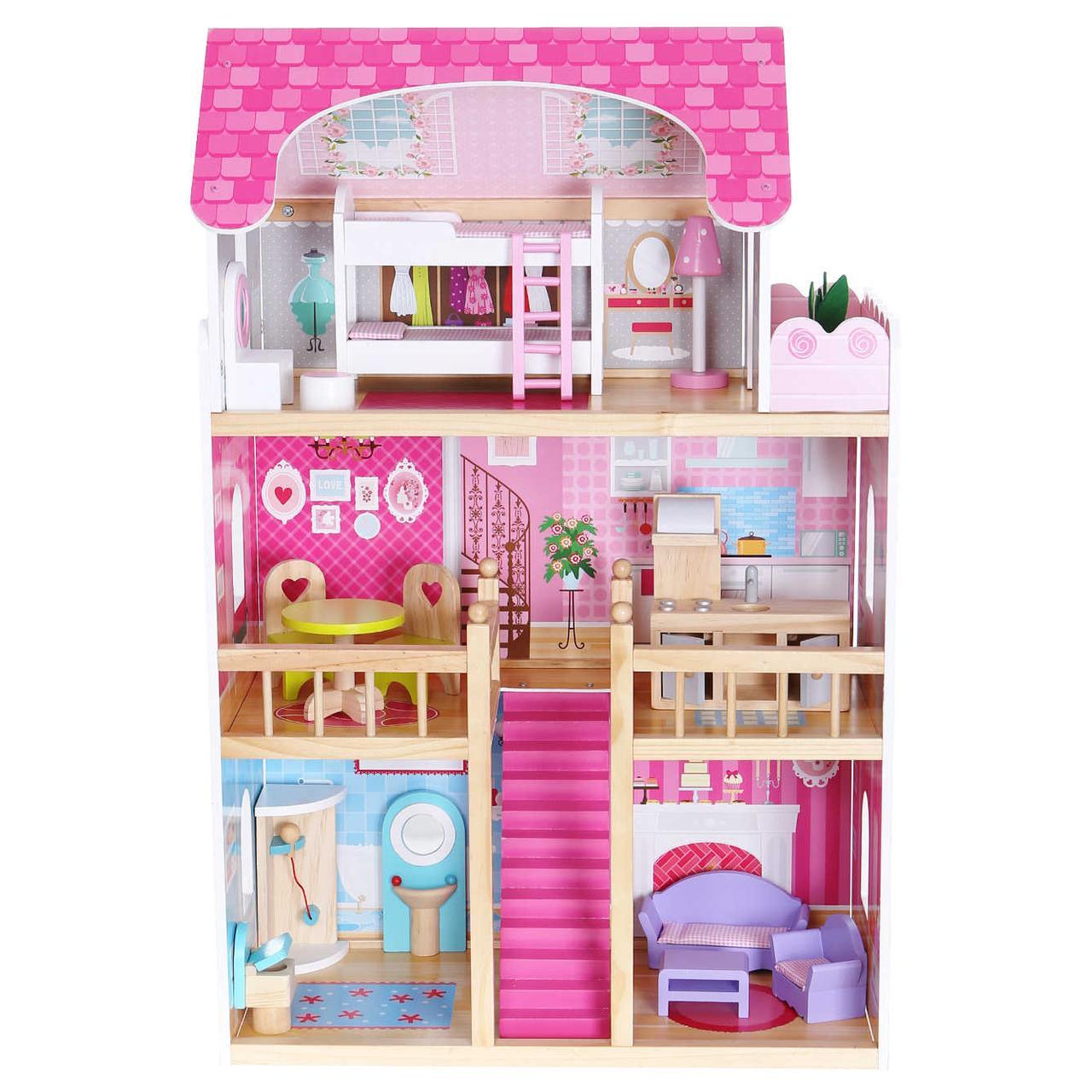 Игровой кукольный домик 4119 Tima Toys + 2 куклы